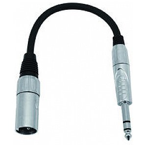 Omnitronic Cable SADC XLR male/6,35 male stereo 1/3