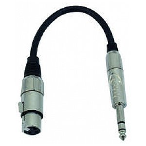 Omnitronic Cable SADC XLR female/6,35 male stereo 1/3