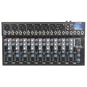 Citronic CM10-LIVE compact mixer with delay + USB/SD player, mikser audio 1/4